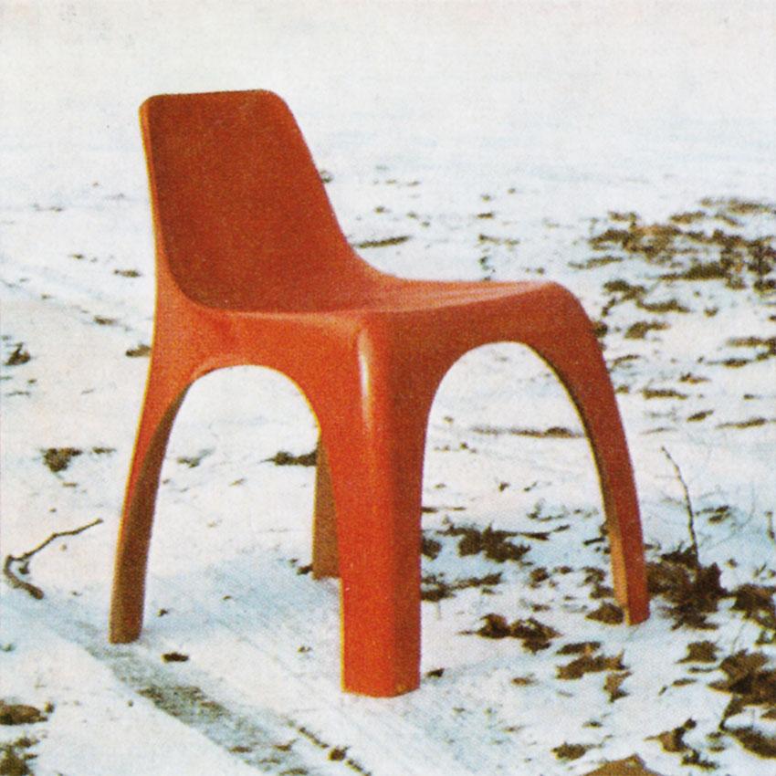 sedia 1965 rossa Giorgina Castiglioni