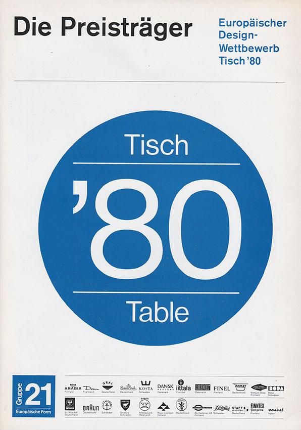 TISCH '80 cover concorso giorgina castiglioni