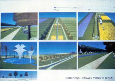 progetto urbanistico un canale verde in città